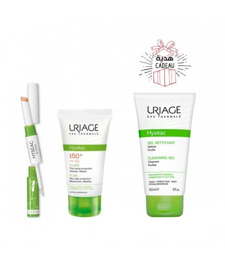 COFFRET PROMO URIAGE 2+1 MA ROUTINE PEAUX GRASSES A IMPERFECTIONS